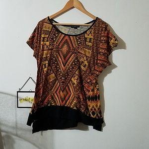 Beautiful short sleeve shirt plus size